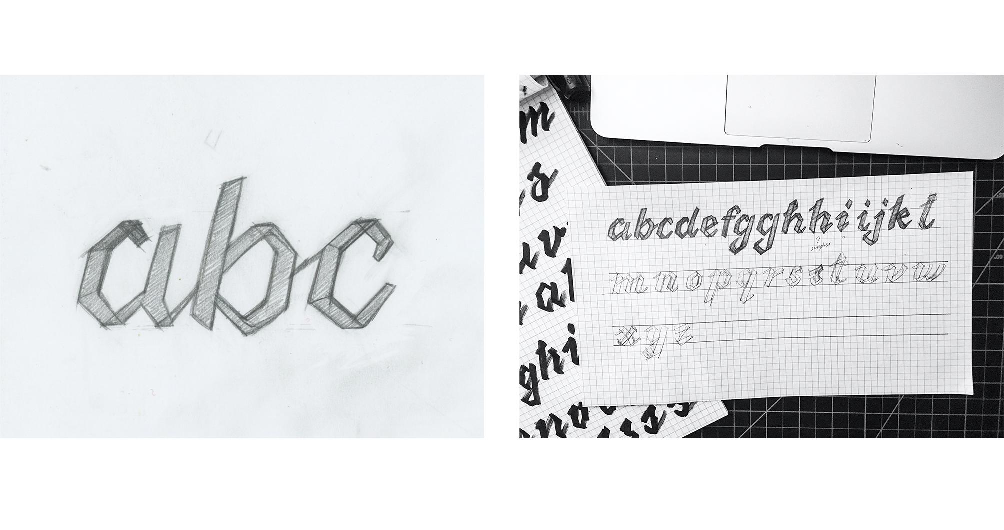 AbcDesignLab Logo Design Sketches