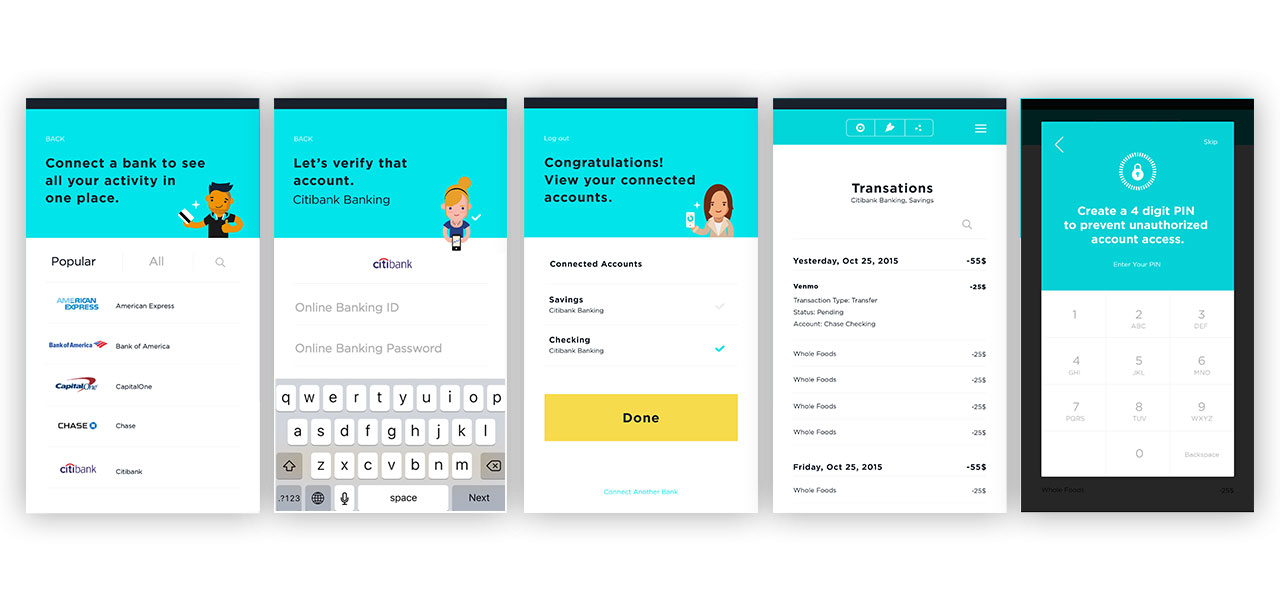 A warm, welcoming screen design to introduce the user to the App features.