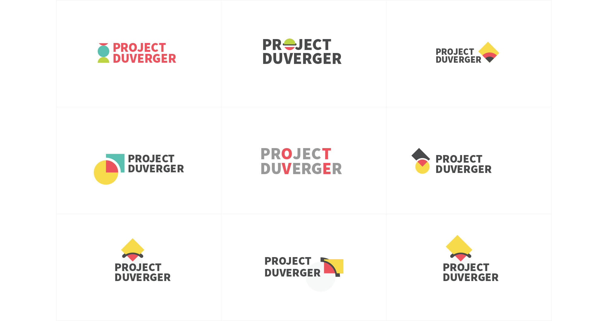 Project Duverger Logo Design Sketches